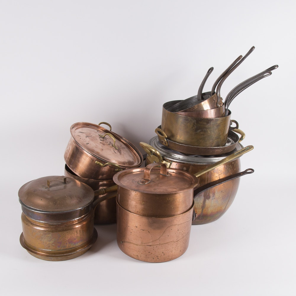 Collection of Copper Clad Cookware