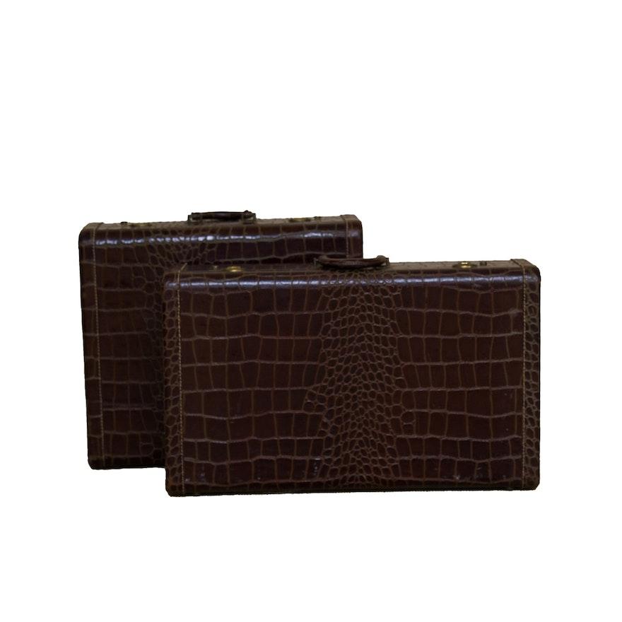 9a0b948875f4 Vintage Crocodile Luggage Set   EBTH