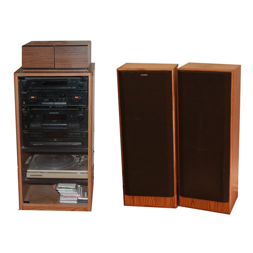 Sony Stereo Components, Speakers And Cabinet ...