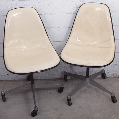 Pair of Herman Miller Eames Shell Chairs