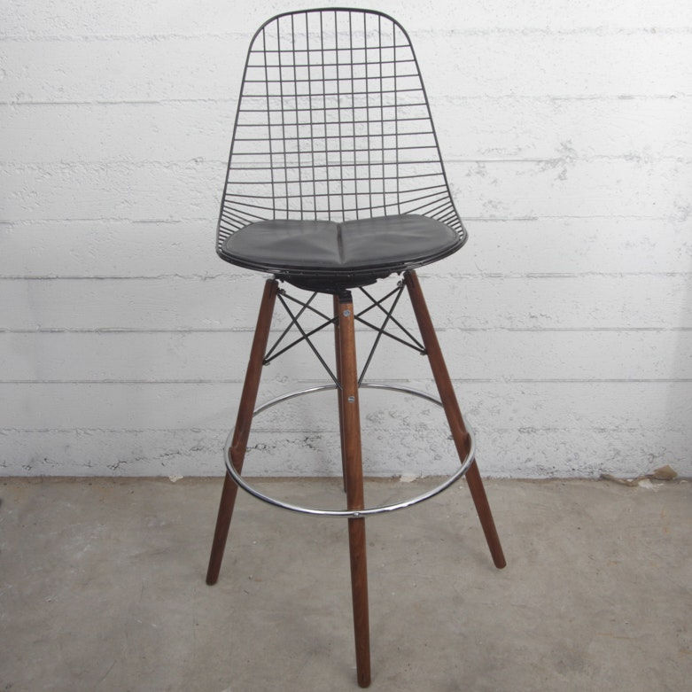 Case Study Wire Chair Dowel Bar Stool