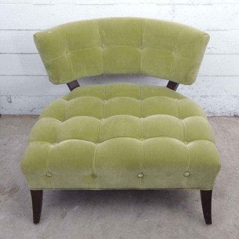 Mid-Century Velvet Side Chair