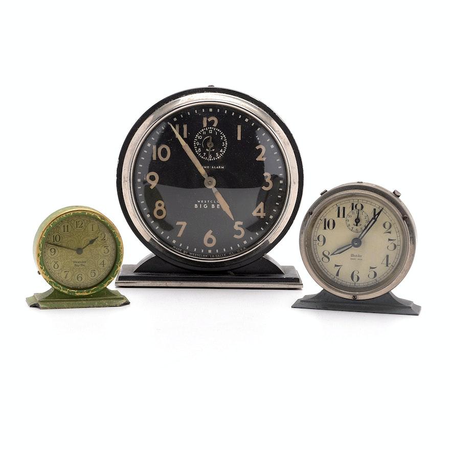 Westclox Big Ben Baby Ben And Tiny Tim Alarm Clocks Ebth