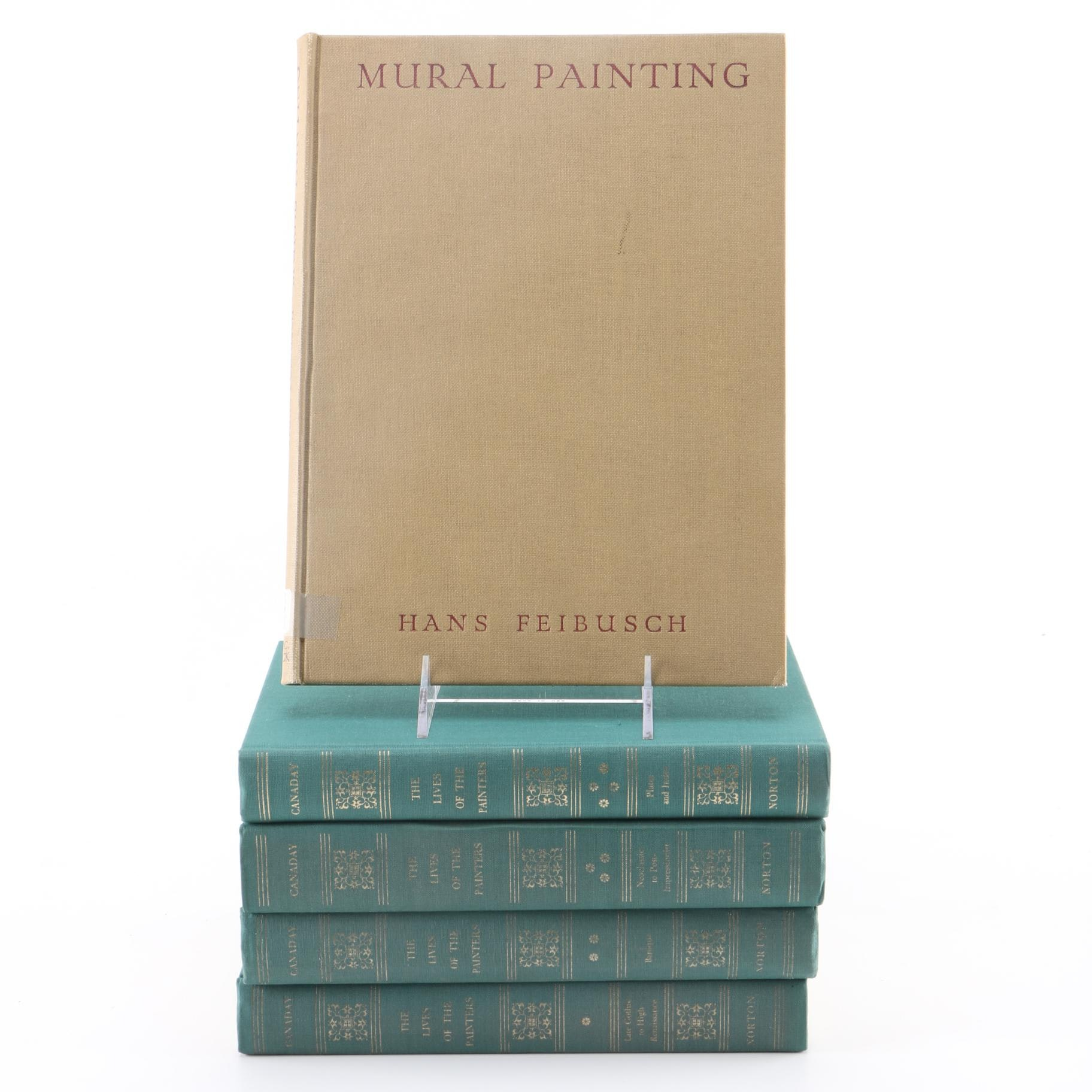 """1969 """"The Lives of Painters"""" by John Canaday in Four Volumes"""