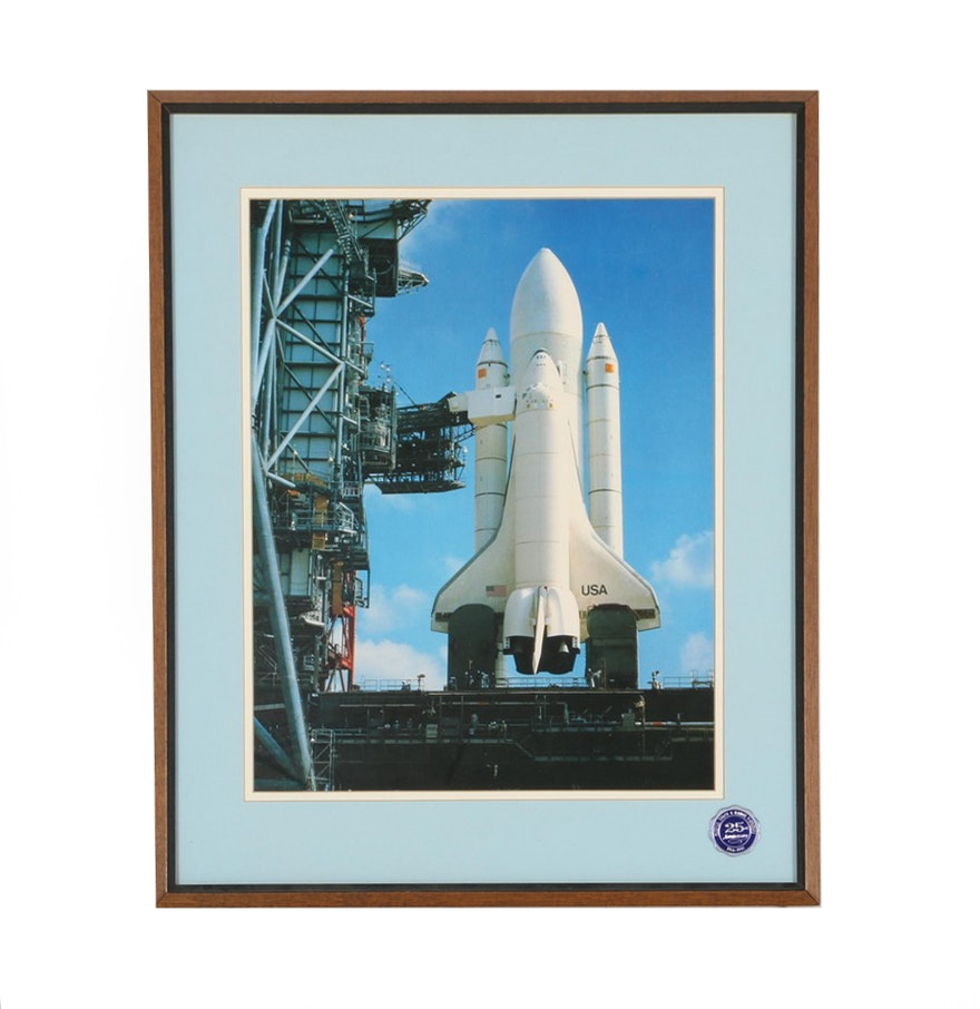 Framed Picture of Space Shuttle