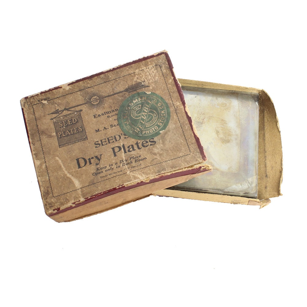 Antique Seed's Dry Plate Glass Plate Negatives