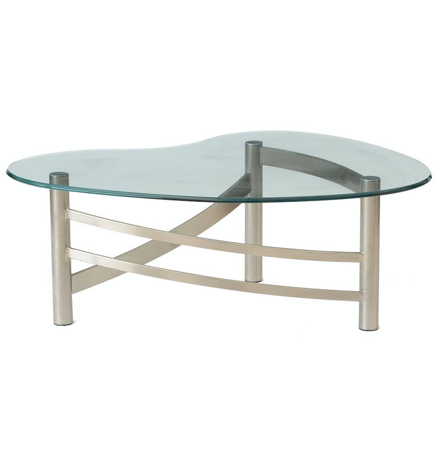 Contemporary Glass Top Coffee Tables Contemporary Glass Top Coffee Table Ebth