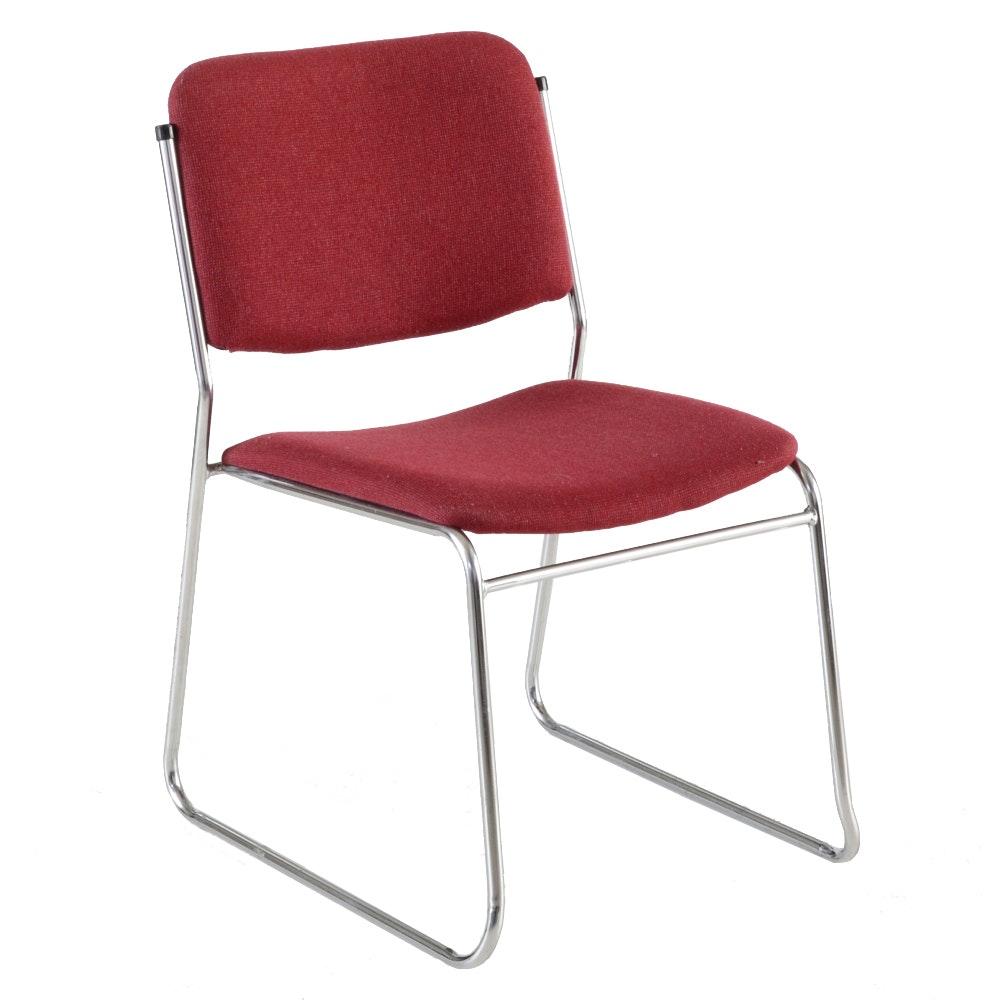 Stacking Chrome Framed Chair