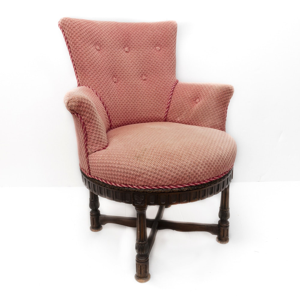Antique Pink Swivel Chair ...