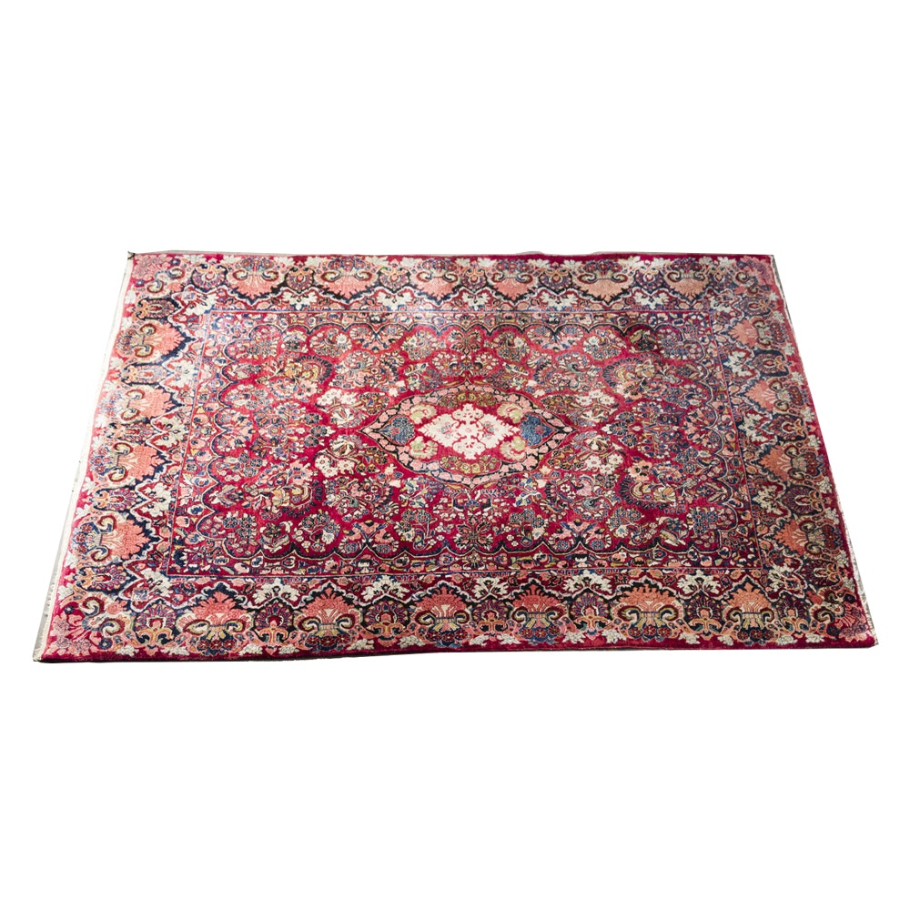 Hand-Knotted Persian-Inspired Accent Rug