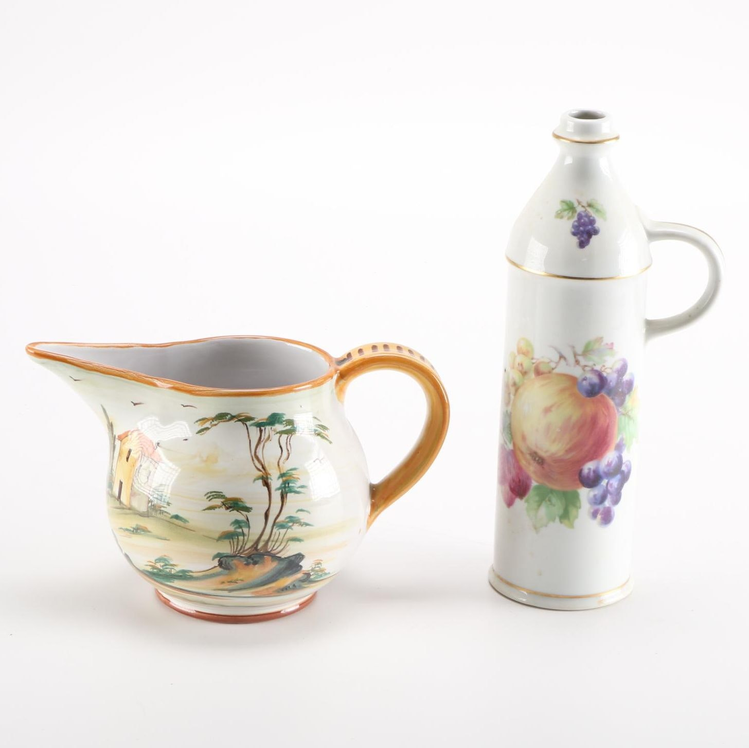 Pair of Ceramic Tablewares With Grazia Deruta