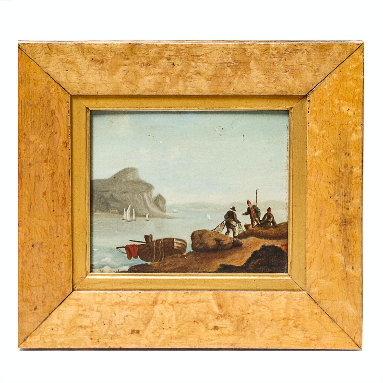 Framed Original Oil Painting on Wood