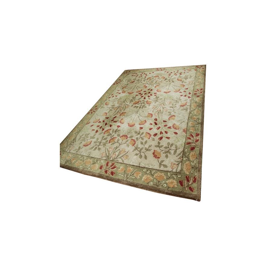 "Tufted Indo Persian Wool Area Rug Ebth: Tufted Pottery Barn ""Tapis Adeline"" Wool Area Rug : EBTH"