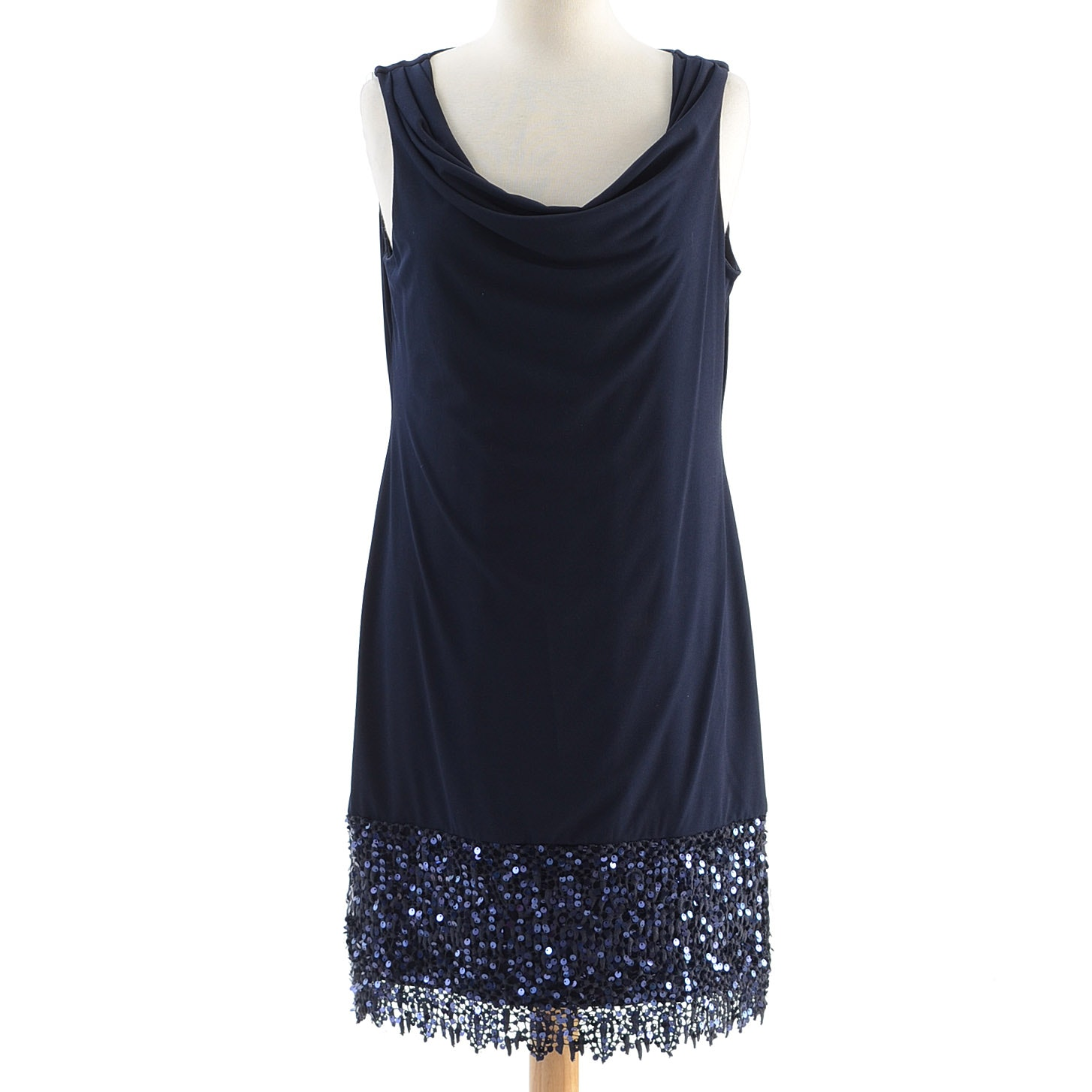 Elie Tahari Dress with Sequin Lace Trimmed Hem
