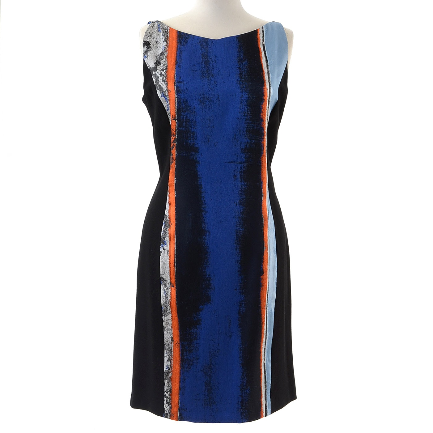 Elie Tahari Jacquard Patterned Dress