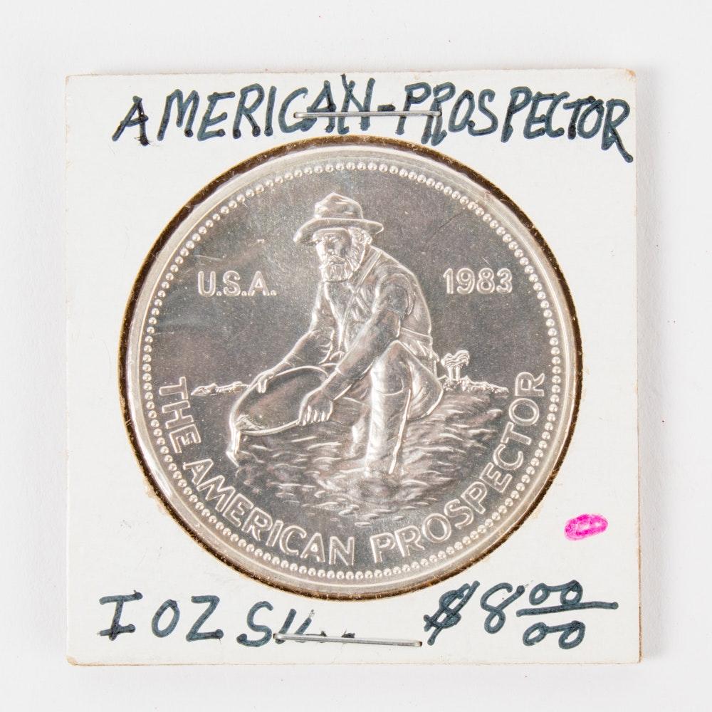 1983 Engelhard Prospector Silver Round