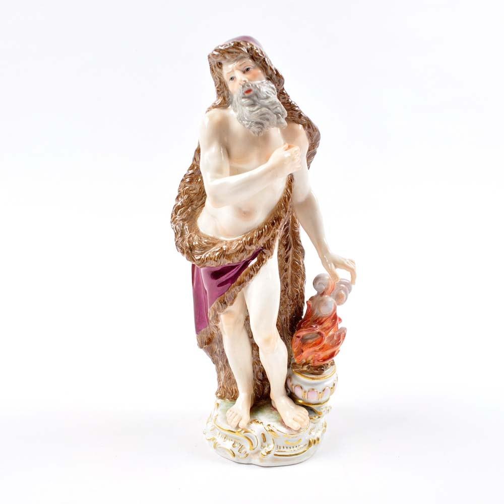 Meissen Classical Winter Season Allegorical Figurine