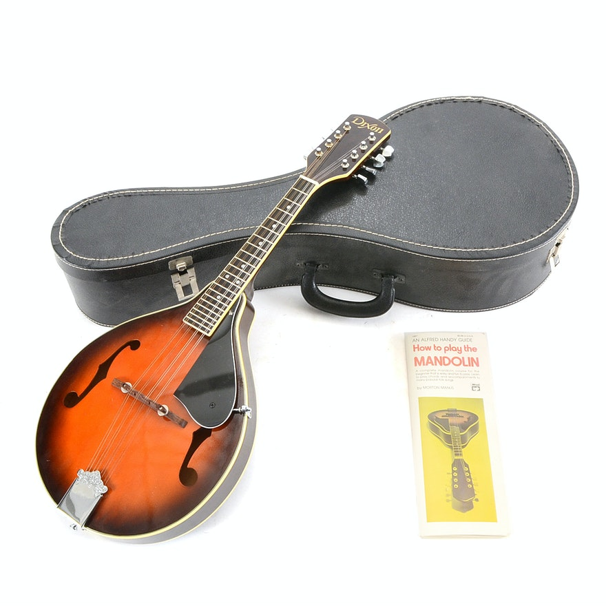 Dixon Dm7 Mandolin With Case And Instructional Book Ebth