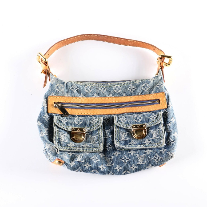 2005 Louis Vuitton Baggy PM Denim Bag   EBTH c393a0a65c5e7