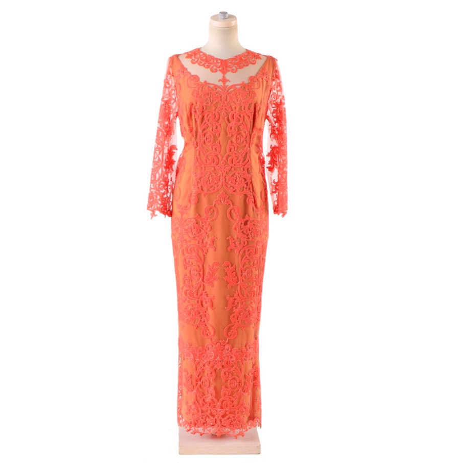 Peggy Jennings Embellished Evening Dress