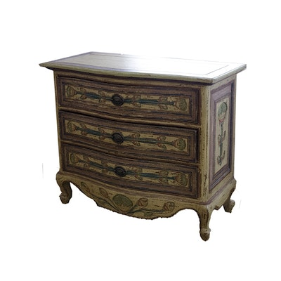Antique French Polychrome Serpentine Chest of Drawers