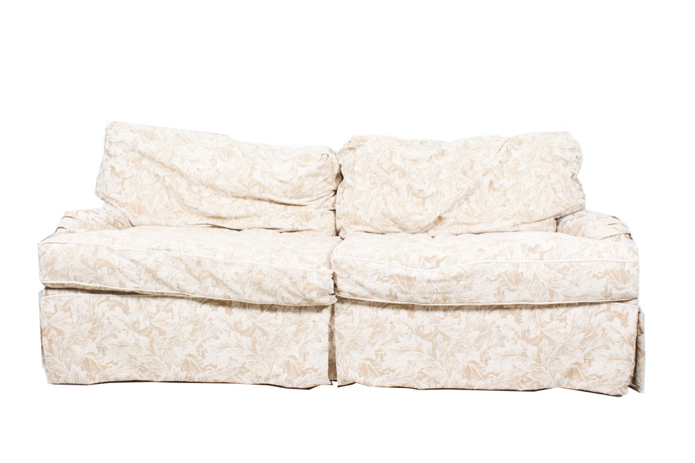 Sofa Express Upholstered Sofa with Floral Fabric