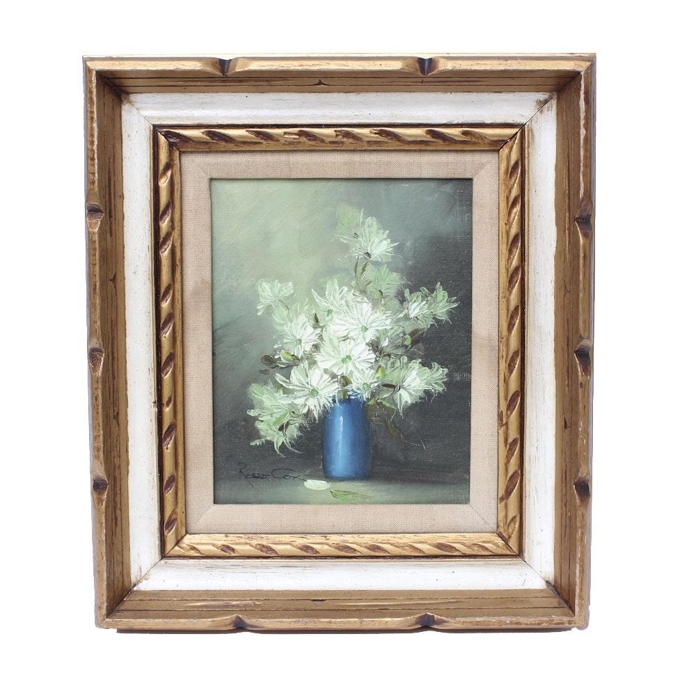 Framed Still Life Floral Painting
