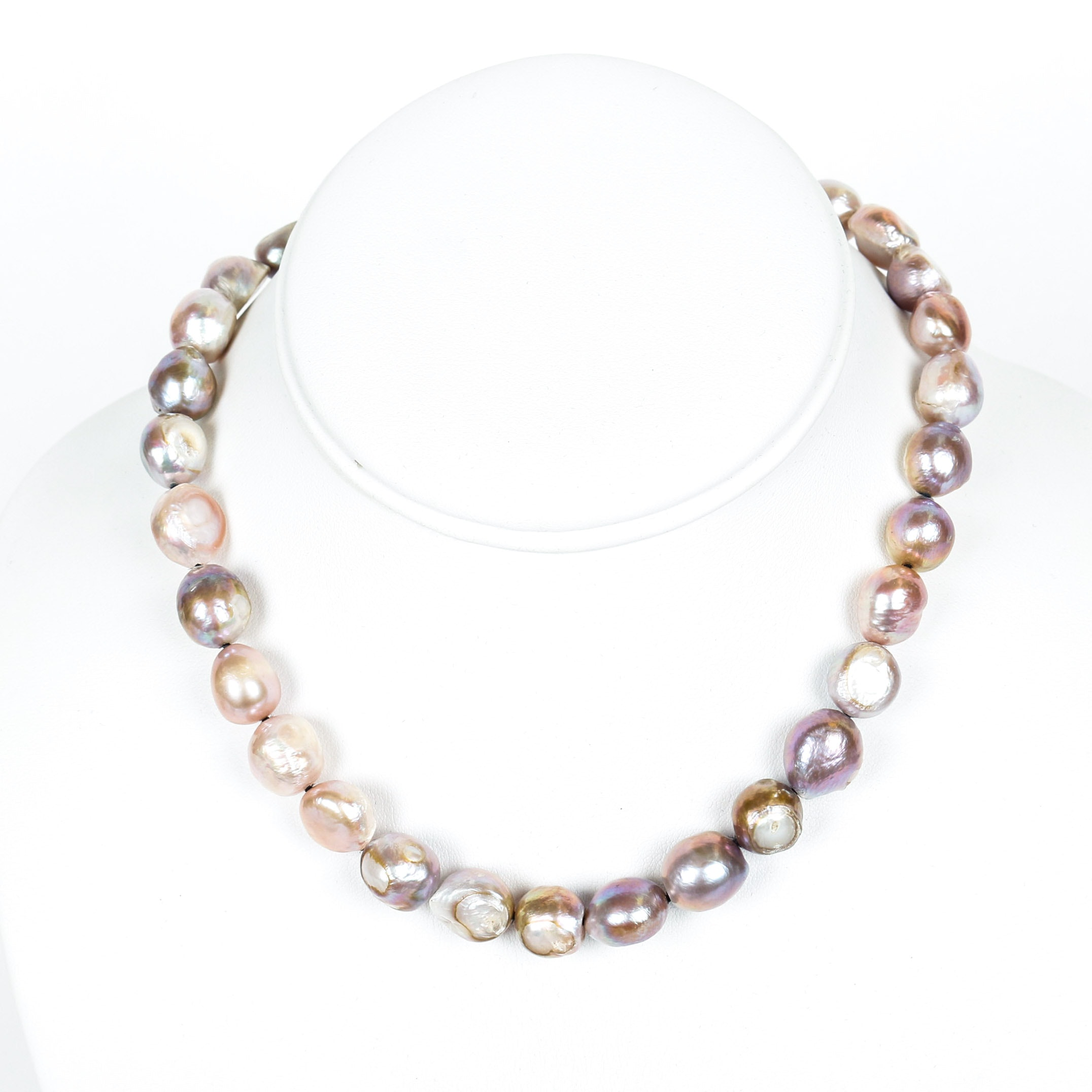 Dyed Freshwater Cultured Pearl Necklace with a 14K Clasp