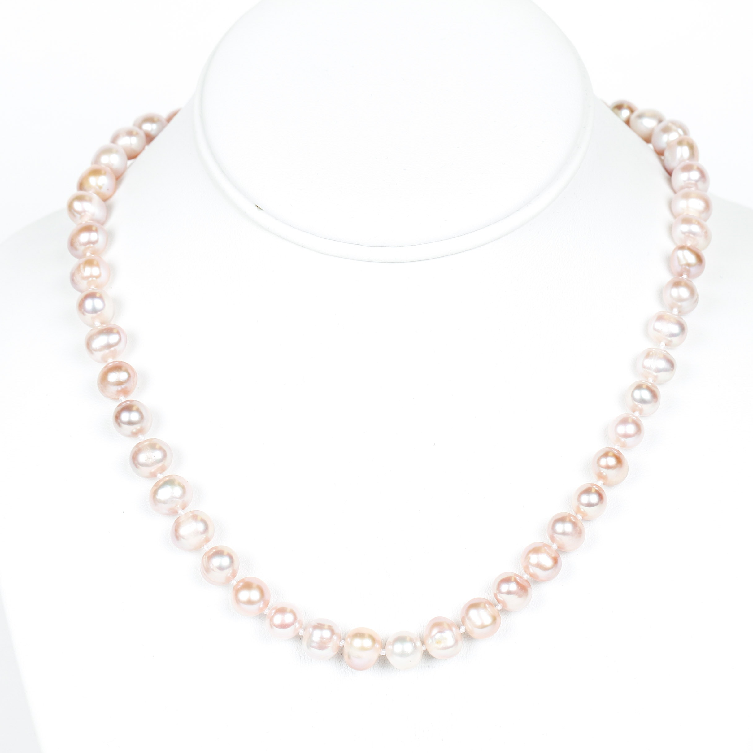 Dyed Freshwater Cultured Pearl Necklace with Sterling Silver Clasp