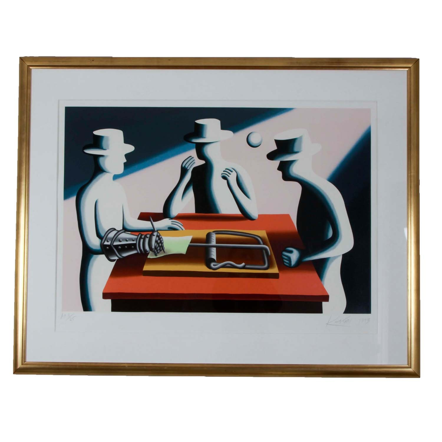 "Mark Kostabi  Artist Proof Serigraph titled ""Art of the Deal Iron Fist"""