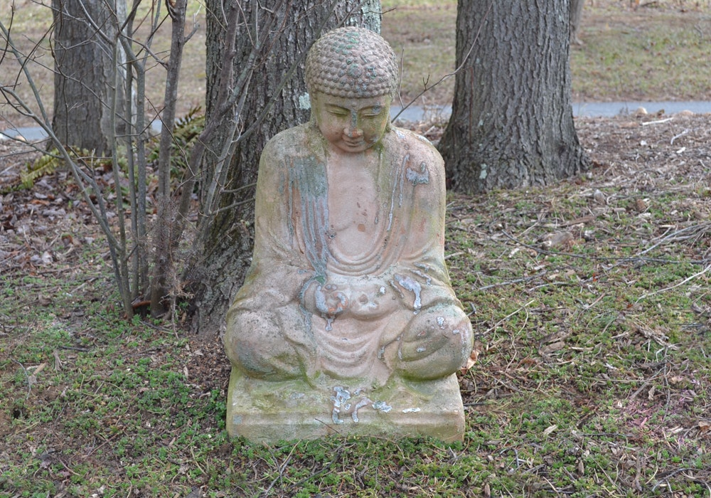 Concrete Buddha Garden Statue