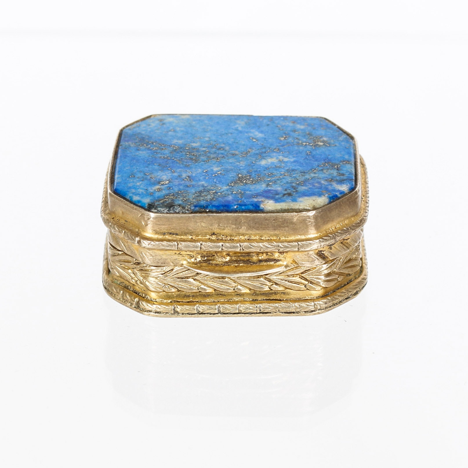 Vintage Lapis Lazuli and Vermeil Pill Box