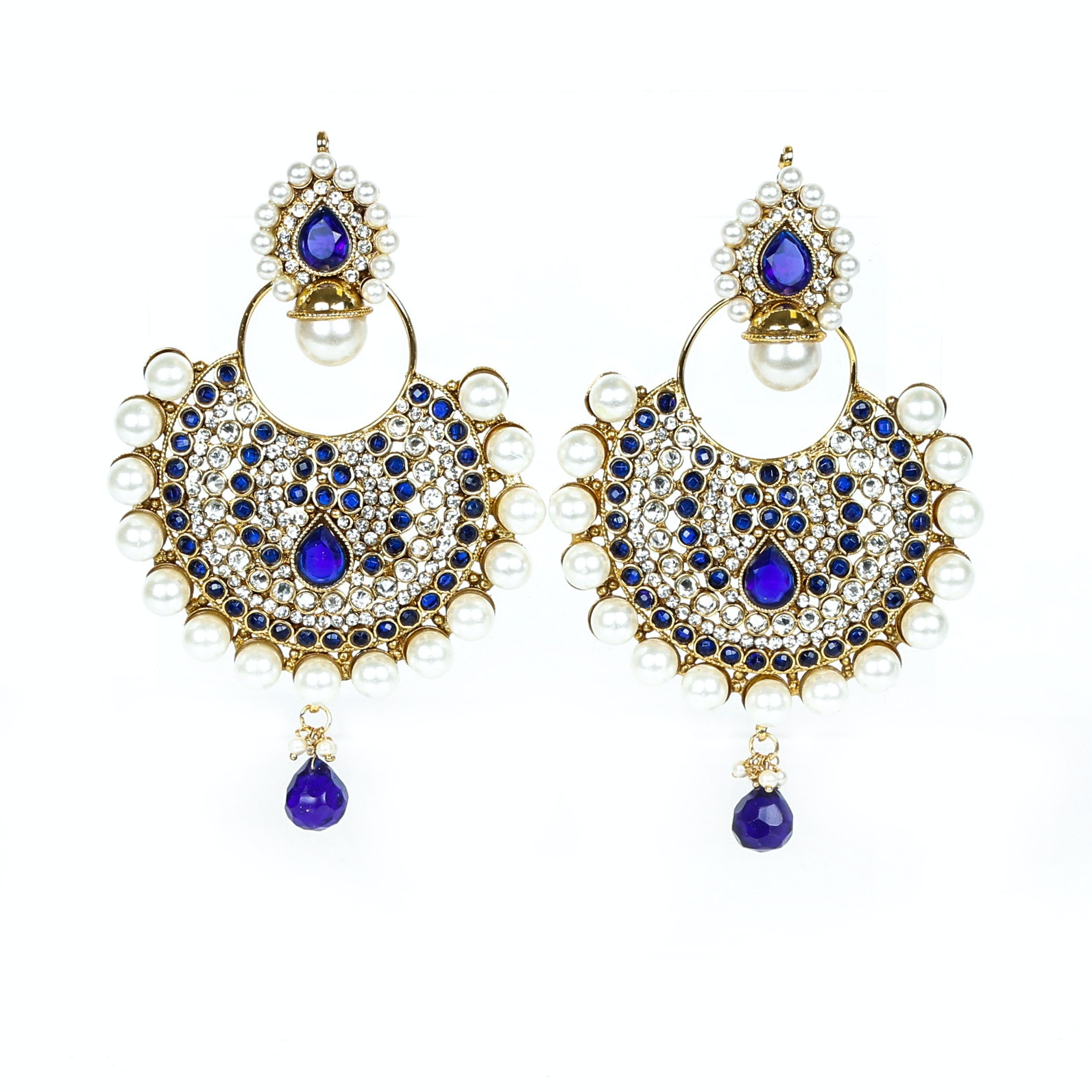 Indian Style Costume Chandelier Earrings
