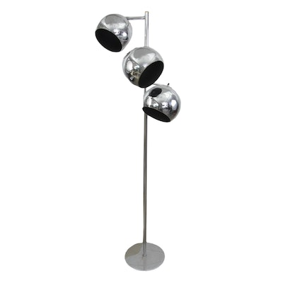 Mid Century Modern Chrome Floor Lamp