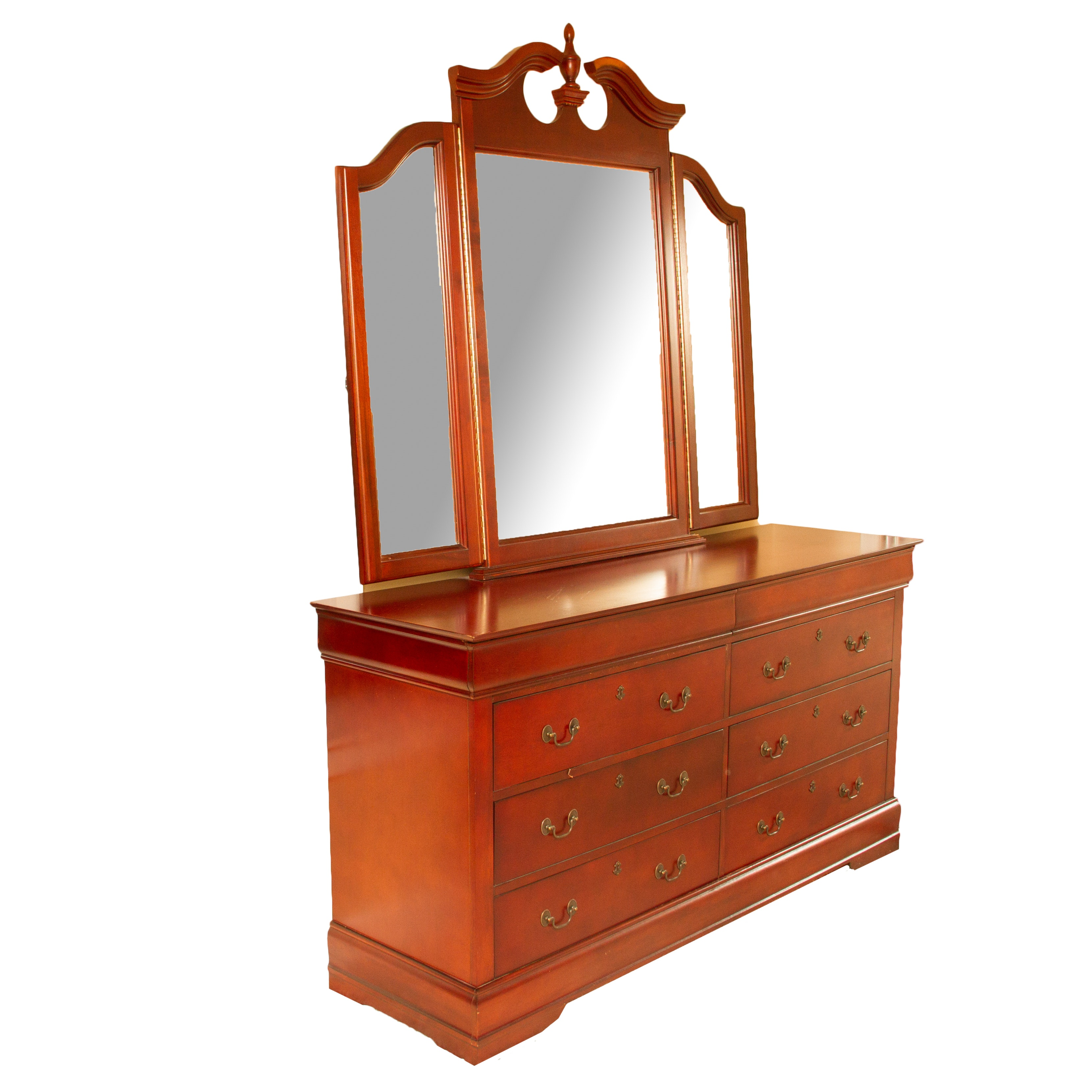 Early 21st Century Federal Style Dresser and Mirror