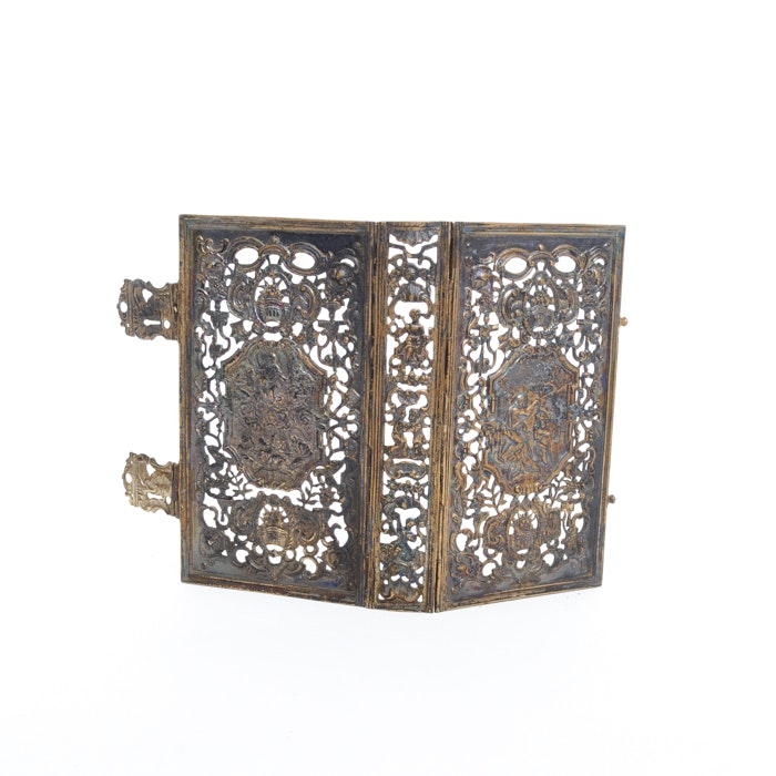 Silver Plate Filigree Bible or Book Cover