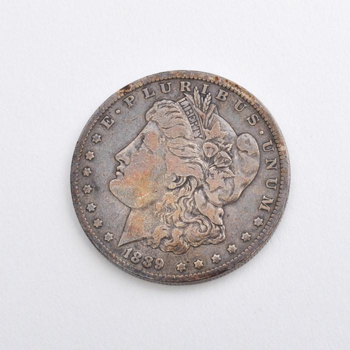 """1889 """"O"""" Morgan Silver Dollar"""