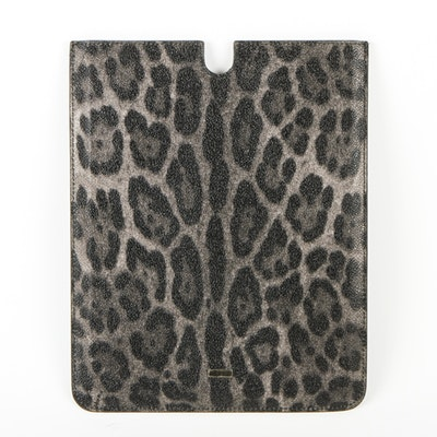 Dolce & Gabbana Leopord Print Leather iPad Cover