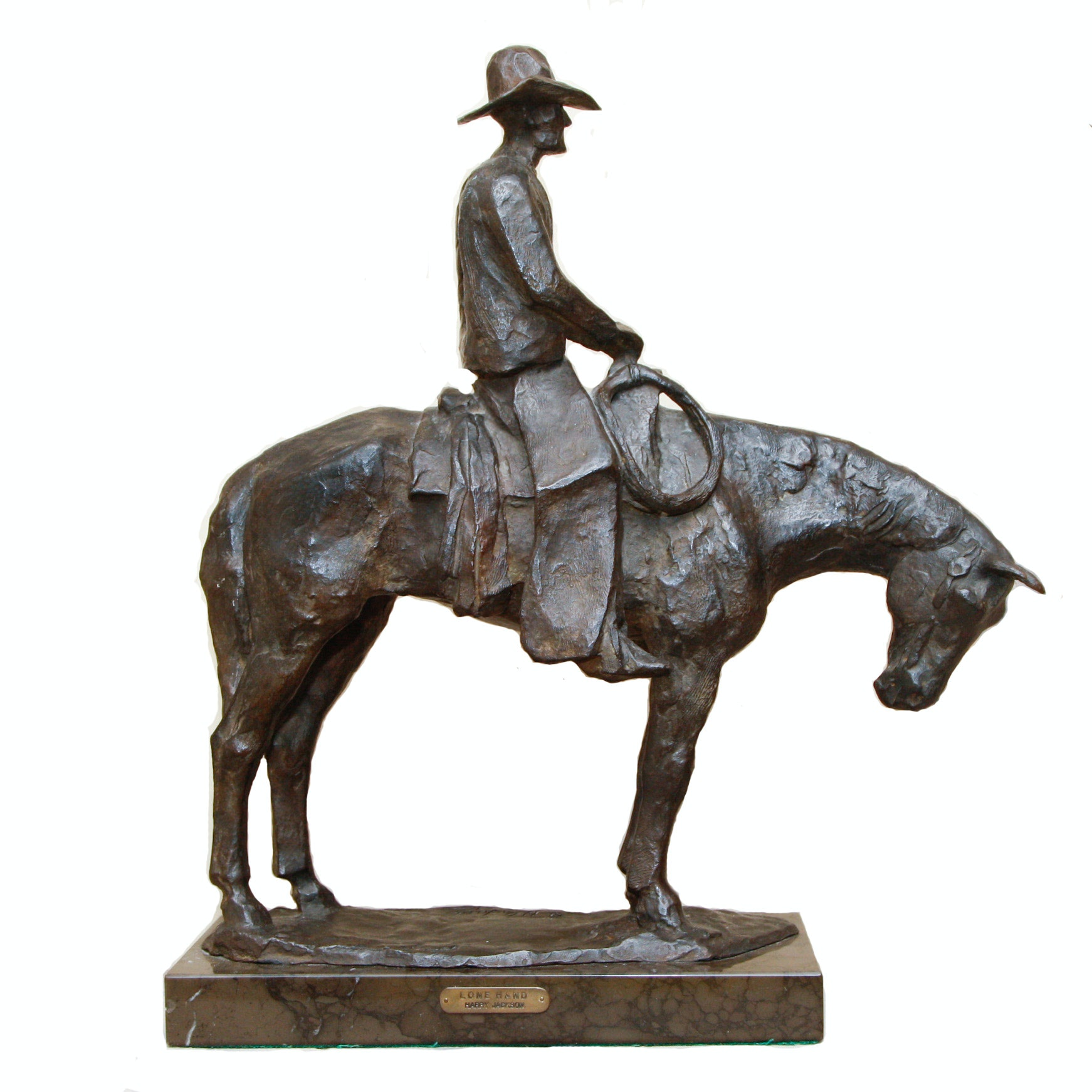 "1961 Harry Jackson Bronze Sculpture ""Lone Hand"""