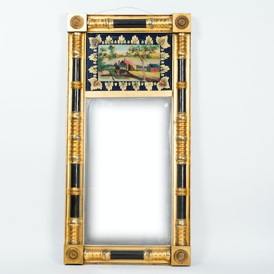 Antique oak beveled mirror ebth for Mirror 34 productions