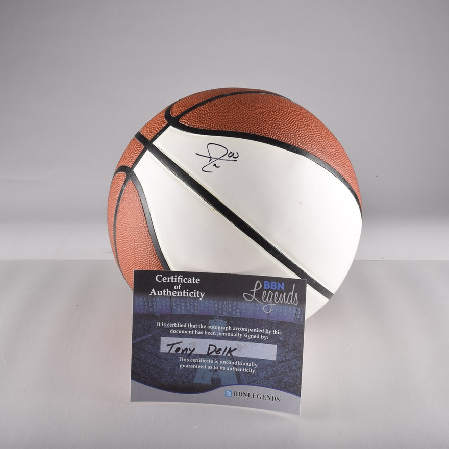 Tony Delk Autographed Baden Basketball