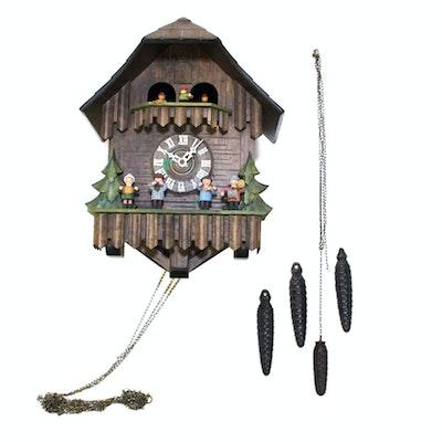 Swiss cuckoo clock by lotscher ebth - Wooden cuckoo clocks ...