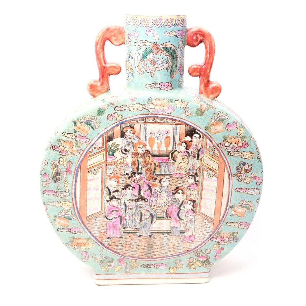 Chinese Ceramic Pilgrim Flask