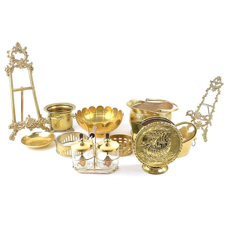 Assortment of Brass Decor
