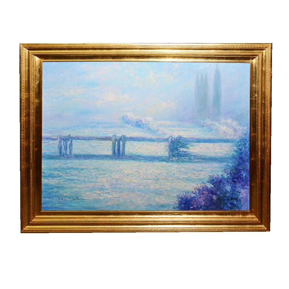 Peter Miller Framed and Signed Original Landscape Oil Painting