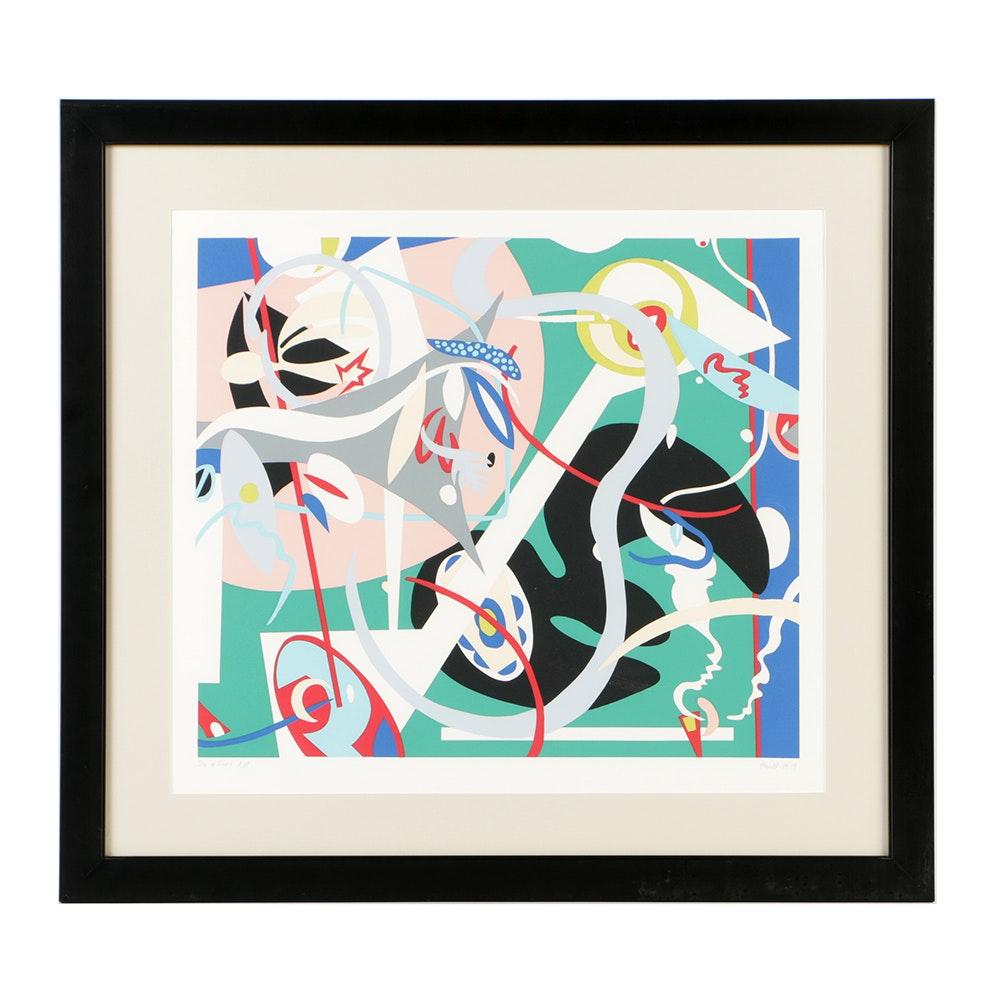 "Nina Paull Artist's Proof Serigraph on Paper ""Sea & Field"""