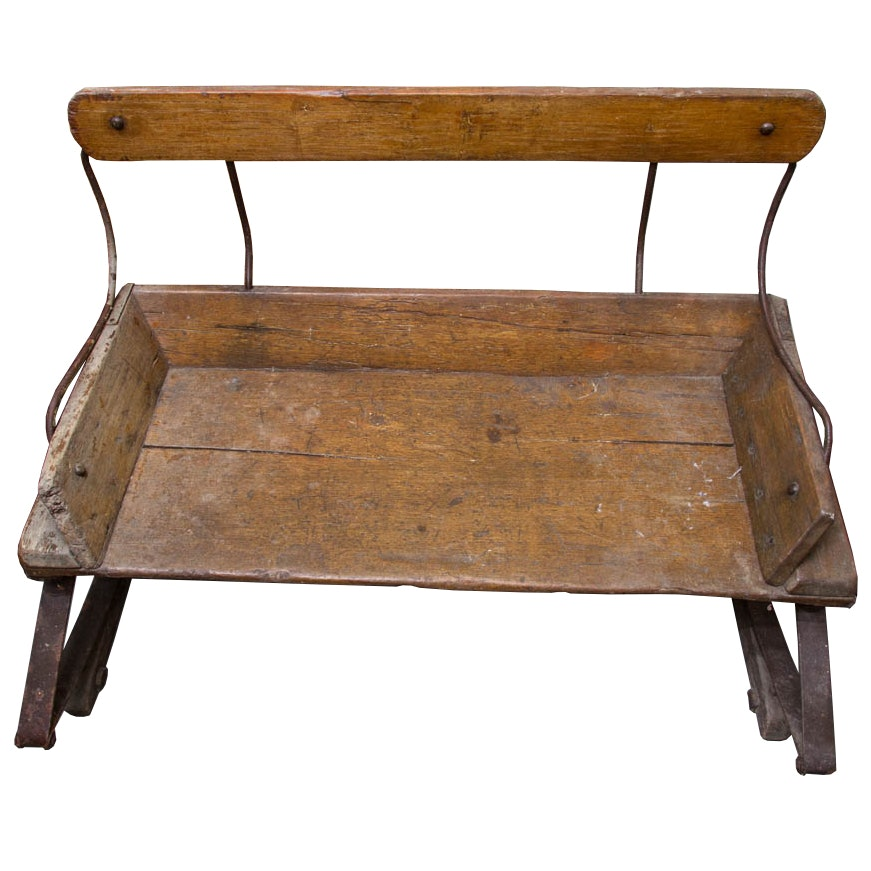 Rustic Wooden Wagon Bench