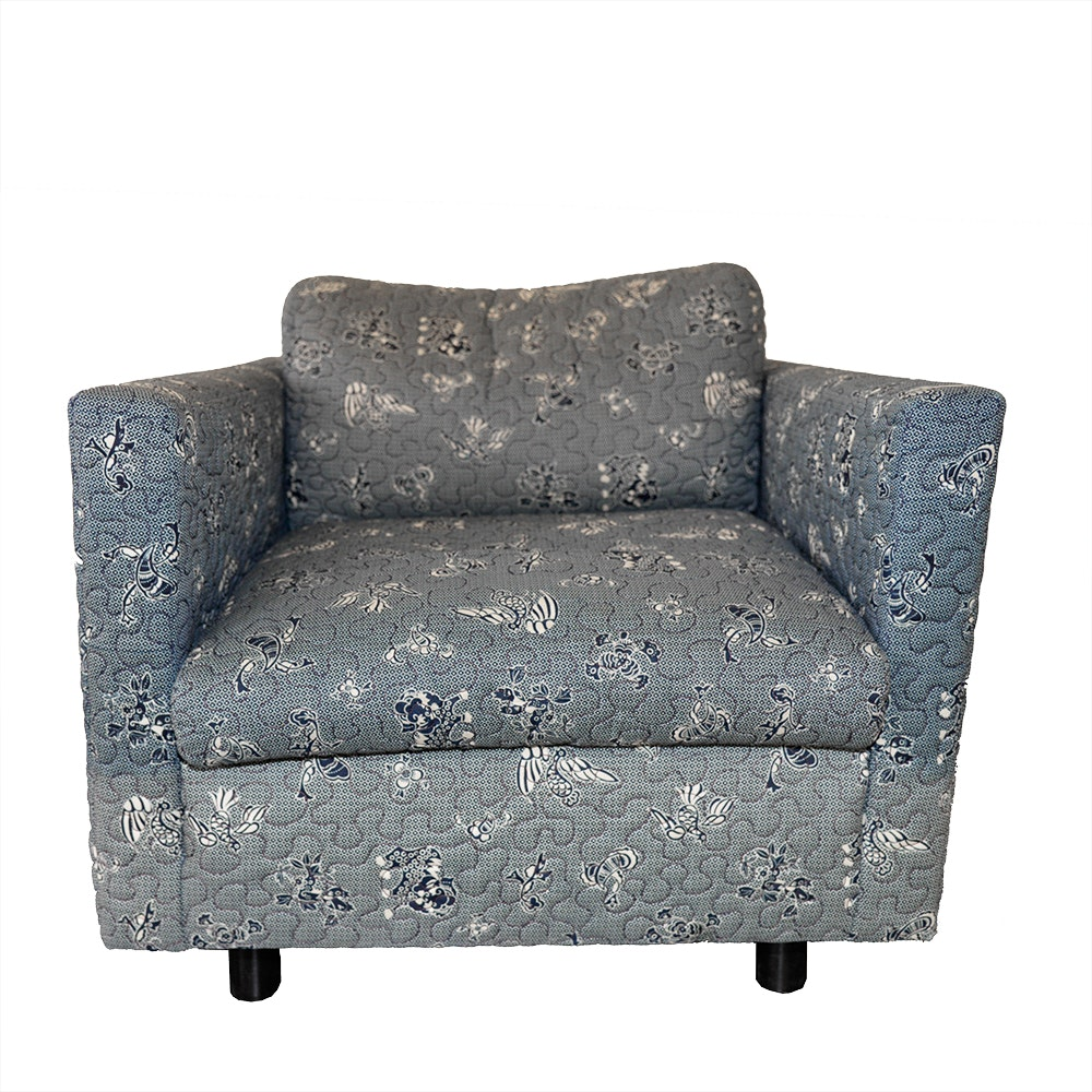 Fine Arts Furniture Blue Paisley Upholstered Arm Chair ...