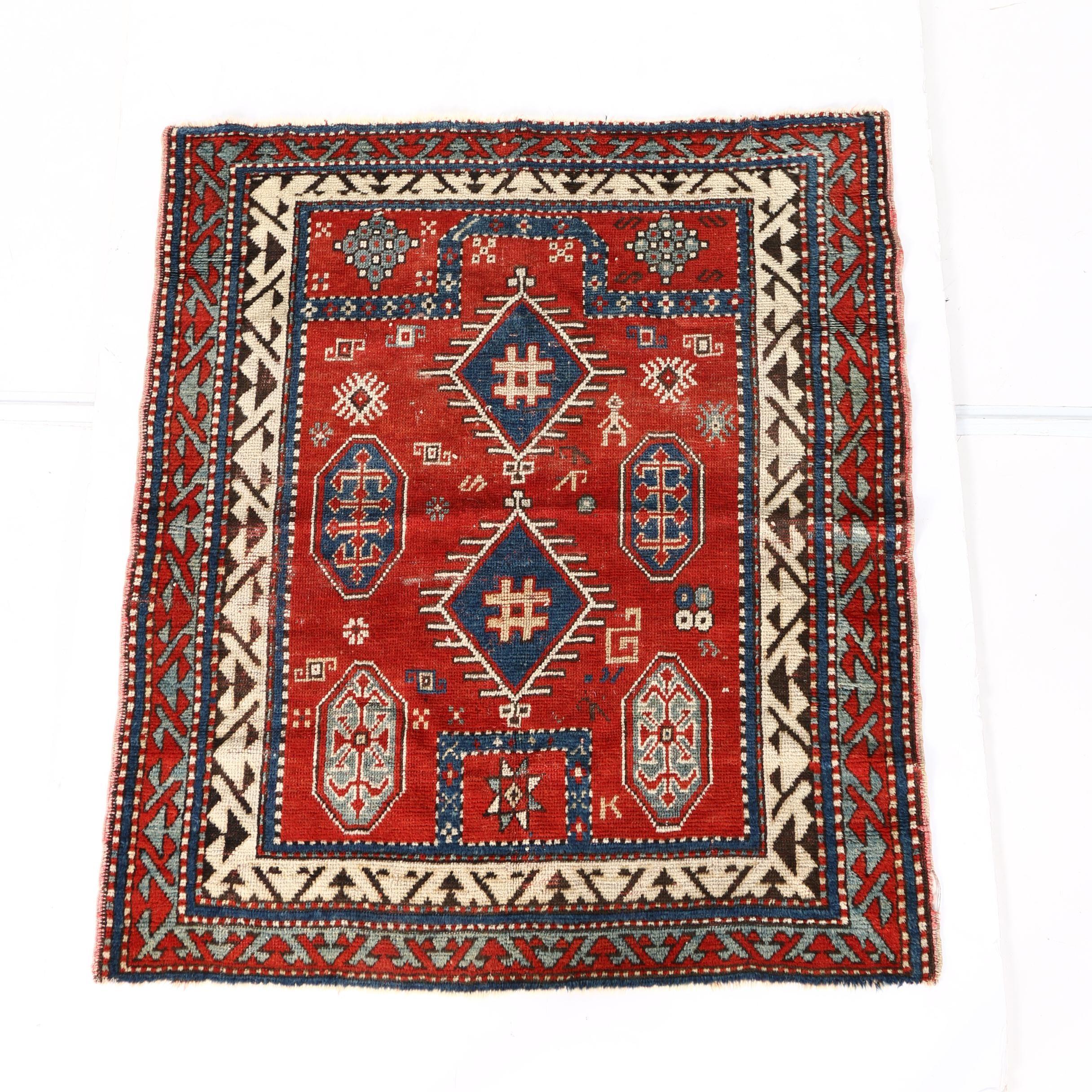 Hand Knotted Kazak Prayer Rug