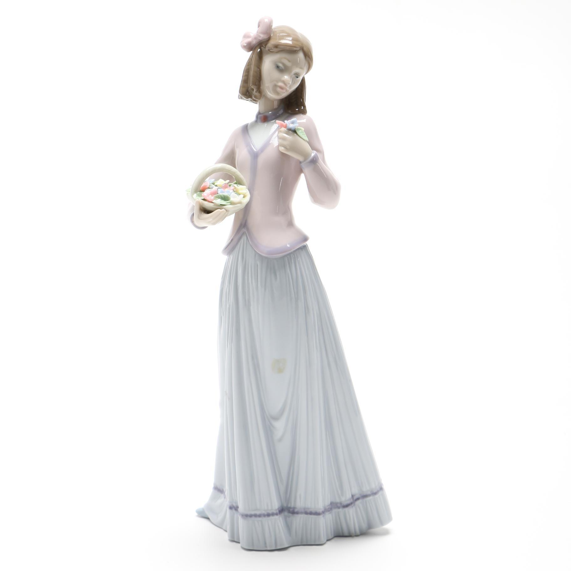 "Lladró ""Innocence In Bloom"" Porcelain Figurine"